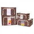 GetZhop กล่องผ้าอเนกประสงค์ Set 4 ชิ้น (22,44,66,88) - สีน้ำตาลเข้มลายสุนัข