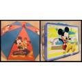 Mickey Mouse พิิเศษ!! กล่องข้าว กล้องใส่อาหาร กล่องใส่ของ กล่องอเนกประสงค์ + ร่มหัวโมเดล จัด Set คู่