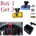 โปรโมชั่นพิเศษสุดคุ้มซื้อ 1 ได้ถึง 3 กล้องติดรถยนต์ รุ่นK1000 night vision ส่งฟรี EMS