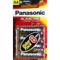 ถ่าน Panasonic Alkaline AA แพค 8ก้อน จำนวน 6 แพค