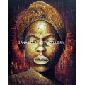 ขายภาพวาดสีน้ำมัน ภาพวาดตกแต่งห้อง ภาพวาดสาวแอฟริกัน01