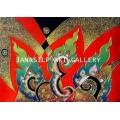 ขายภาพวาดสีน้ำมัน ภาพวาดตกแต่งห้อง ภาพวาดศิลปะไทยร่วมสมัย01 (Original)