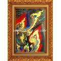 ขายภาพวาดสีน้ำมัน ภาพวาดตกแต่งห้อง ภาพวาดศิลปะไทยร่วมสมัย16 (Original)