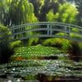 ขายภาพวาดรีโปรดักชั่น The Japanese Footbridge and Water Lily pool at Giverny