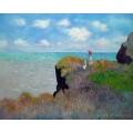 ขายภาพวาดรีโปรดักชั่นของศิลปินต่างประเทศ Cliff Walk at Pourville