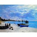 ขายภาพวาดรีโปรดักชั่น The Beach at Sainte Adresse