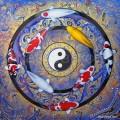 ขายภาพวาดสีน้ำมัน ภาพวาดปลาคาร์ฟเสริมฮวงจุ้ย26
