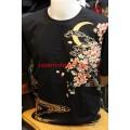 เสื้อยืดพิมพ์ลายพร้อมปักสไตล์ญี่ปุ่น No.00302