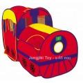 เต๊นท์เด็กทรงรถไฟสองตอน สีแดง