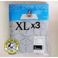 Pet Pee Pad(รุ่นใหม่..ผ้าสีเทา)แผ่นรองซับฉี่สุนัขแบบซักได้ไซส์ XL แพค 3 ชิ้น ประหยัดกว่า