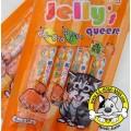 Petto Tomodachi ขนมแมวเลียชนิดครีม Jelly\'s queese รสแซลมอนและกุ้ง 15g x 4 ซอง