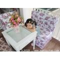 เก้าอี้สตูลบุผ้าคอตตอนลายดอกไม้หวานมีผนักพิงเปิดเก็บของได้ ขนาดที่นั่ง กว้าง 80 ซม.(เก้าอี้,โซฟาหวาน