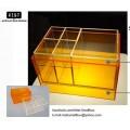 กล่องอะคริลิก สำหรับเก็บเครื่องสำอางและผลิตภัณฑ์บำรุงผิวcolorful ส้ม
