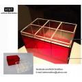 กล่องอะคริลิก สำหรับเก็บเครื่องสำอางและผลิตภัณฑ์บำรุงผิวcolorful แดง