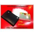 กระเป๋านามบัตรรุ่นสวิงหรือกระเป๋าไว้เก็บบัตรต่างๆเช่น บัตรประชาชน, ใบขับขี่, บัตรเครดิต (สีดำ)