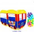 เต็นท์รถบัส pop up สุดฮิต + บอลพลาสติกเนื้อดี 100 ลูก ส่งฟรี EMS