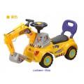 รถขาไถ...แมคโครตักดินแบบนั่งได้ มีสีเหลือง ส่งฟรี EMS