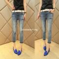 JW5705021 กางเกงยีนส์สาวเซอร์ 5 ส่วน เท๋ห์ เก๋แฟชั่นเกาหลี (พร้อมส่ง) 30,31