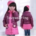DM5810001เสื้อโค้ทเด็กผู้หญิงเกาหลีลายจุด มีฮูดซิปหน้า ผ้าผสมขนสัตว์ อบอุ่นมาก (พรีออเดอร์)