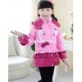 DM5810003 เสื้อโค้ทเด็กผู้หญิงเกาหลี มีฮุดลายเป็ดน้อยกระดุมหน้า (พรีออเดอร์) รอ 3 อาทิตย์หลังโอนเงิน