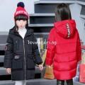 DM5909006 เสื้อโค้ทเด็กผู้หญิงเกาหลี มีฮูดซิปหน้า ผ้าผสมขนสัตว์ อบอุ่นมาก (พรีออเดอร์) รอ 3 อาทิตย์ห