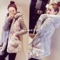 KW5911001 เสื้อกันหนาวผู้หญิงที่คลุมด้วยผ้าตัวยาวสีเทา (พรีออเดอร์) รอ 3 อาทิตย์หลังโอนเงิน