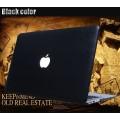 เคสหนัง leather hard case for Macbook Air 13 - สีดำ