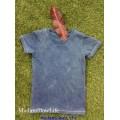 เสื้อยือเด็กย้อมคราม ออแกนิคคอตตอน indigo dye FullBody