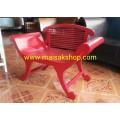 เฟอร์นิเจอร์ไม้สัก(Furniture) เก้าอี้เจ้านางมีพนักพิงสีแดง