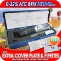 เครื่องวัดความหวาน น้ำตาล (Brix) ในผลไม้ เครื่องดื่ม น้ำเชื่อม ช่วงค่า 0-32, 0-80, 58-90 Brix