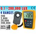 เครื่องวัดความเข้มแสงสำหรับปลูกผักไฮโดรโปนิกส์  โรงเพาะชำ โรงเรือน ฯ ช่วงค่า 0-200,000 Lux