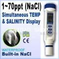 เครื่องวัดความเค็ม ปริมาณเกลือ และอุณหภูมิ (Salinity Meter) ช่วงค่าการวัด 1-70ppt NaCl รุ่น AZ-8371
