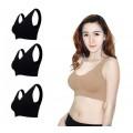 Missy bra ชุดชั้นในสวมสบาย 1 กล่อง ( 3 ตัว สีดำ สีดำ สีดำ )