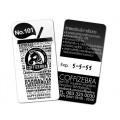 บัตร พีวีซี บัตรพลาสติก บัตรสมาชิก บัตรโปรโมชั่น 2 หน้า แถบแม่เหล็ก