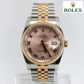 Rolex Men's Datejust Two-tone White Roman Dial Watch-2/RL116231/D  Man size