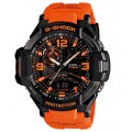 Casio G-Shock Gravity Defier Compass Thermometer Watch GA-1000-4ADR สีดำ/ส้ม