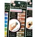 สติกเกอร์ติดเล็บหลายลายหลายสี 96169Nail Cover Sticker Glossy Blossom