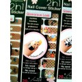 สติกเกอร์ติดเล็บหลายลายหลายสี 96170 Nail Cover Sticker Glossy Blossom