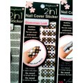 สติกเกอร์ติดเล็บหลายลายหลายสี96175 Nail Cover Sticker Glossy Blossom
