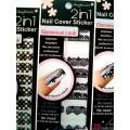 สติกเกอร์ติดเล็บหลายลายหลายสี 96176Nail Cover Sticker Glossy Blossom