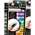 สติกเกอร์ติดเล็บหลายลายหลายสี 96180Nail Cover Sticker Glossy Blossom