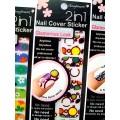 สติกเกอร์ติดเล็บหลายลายหลายสี 96181Nail Cover Sticker Glossy Blossom
