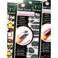 สติกเกอร์ติดเล็บหลายลายหลายสี 96182Nail Cover Sticker Glossy Blossom