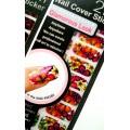 สติกเกอร์ติดเล็บหลายลายหลายสี 96184Nail Cover Sticker Glossy Blossom