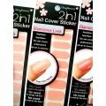 สติกเกอร์ติดเล็บหลายลายหลายสี 96242Nail Cover Sticker Glossy Blossom