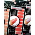 สติกเกอร์ติดเล็บหลายลายหลายสี96243 Nail Cover Sticker Glossy Blossom