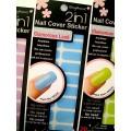 สติกเกอร์ติดเล็บหลายลายหลายสี96245 Nail Cover Sticker Glossy Blossom