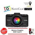 กล้องติดรถยนต์ NanoCam VIP98 พร้อม Mem 8GB Class 10