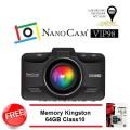 กล้องติดรถยนต์ NanoCam VIP98 พร้อม Mem 64GB Class 10