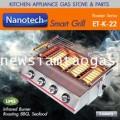 เตาปิ้งย่างระบบแก๊ส LPG รุ่น K22  4หัวเตาสำหรับย่างบาร์บีคิวหรือซีฟู๊ดสำหรับธุรกิจขนาดเล็ก